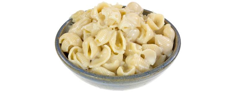 White pasta