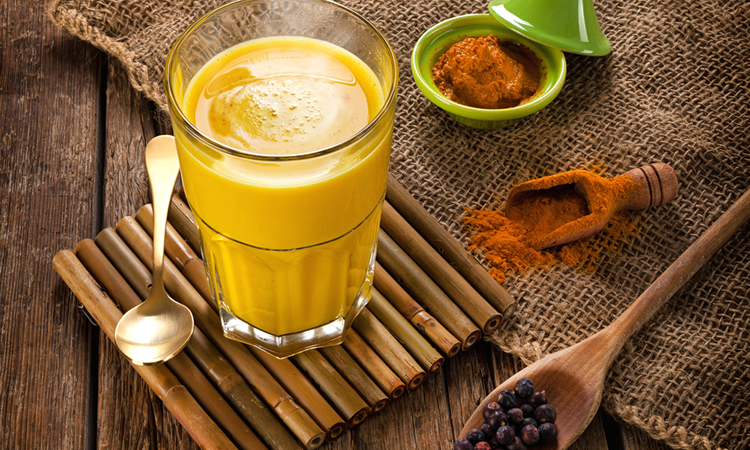 turmeric powder benefits milk